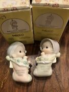 """1996 """"baby First Christmas"""" Boy And Girl Precious Moments Ornament"""