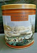 Currier And Ives Winter Morning 1854 Collectible Tin  Pre-owned