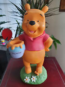 Extremely Rare Walt Disney Winnie The Pooh Standing With Honey Figurine Statue