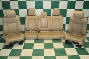 11-14 F-150 Crew Tan Leather Heated Cooled Power Buckets Backseat Seat Set Oem