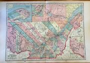 Antique 1904 Map Of The Province Of Quebec Original Atlas Map Large Wall Art