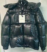 Womens Girls Black Moncler Armoise Quilted Down Jacket Puffer Coat Size 0