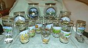 Collection 14 German Glasses-gold Rims Excellent Condition