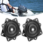 1 Pair Boat Ship Seat Swivel Base Mount Plate High Strength 360andordm Rotating 8in