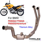 For Bmw F650gs F700gs F800gs Adv Moto Titanium Alloy Exhaust Front Link Pipe