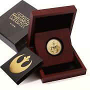 Niue 250 Dollars Star Wars Series The C - 3po Robot Proof Gold Coin 2017