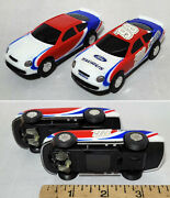 2pc Artin 1/43 Scale White And03998 Ford Taurus Two Variations Slot Race Car 1 Pair