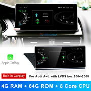 Android 10 Car Gps Video Wifi Wireless Carplay For Audi A4 2004-2008 + Lvds Box