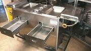 Steam Hot Dog Stand Mobile D 55and039and039 X 26and039and039 X 34and039and039 H Stainless 2 Drawers