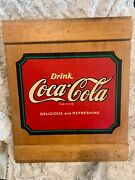 Vintage Authorized Coca Cola Box Wooden Cabinet With Shelves, Box