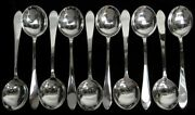And Co Faneuil 10 Sterling Silver 7 1/2 Gumbo Soup Spoons
