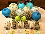 Huge Lot Of 18 Paper Lanterns Decorations For Baby Shower Or Kids Birthday Party