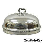 Antique English Sheffield England Silverplate 14 Meat Dish Serving Dome Lid