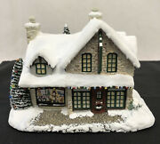 Hawthorne Village Christmas Santa's Workshop Toys With Box Papers Lights 2000