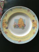 Classic Winnie The Pooh By Royal Doulton Gift Collection Plate And Two Cups