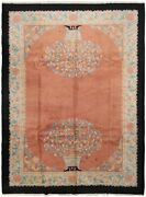 Rare Antique Art Deco Rug Vase Immaculate 9and039x12and039 Fine Walter Nichols Rug 1920