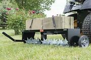 Spike Aerator With Folding Hitch For Easy Storage Galvanized Steel Aeration New