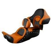 One-piece Driver Passenger Seat Backrest Fit For Harley Touring Road King 14-20