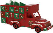 New Pioneer-effort 14 Inch Christmas Wooden Advent Calendar Train With Drawers