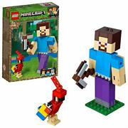 Lego Minecraft 21148 Steve Bigfig With Parrot Block Building Toy From Japan N69