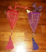 Waterford Holiday Heirlooms Maharaja Jeweled Hanging Basket Ornaments Set Of 2