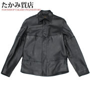 Used __louis Vuitton Calf Black Menand039s Leather Jacket Free Shipping