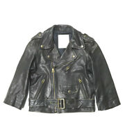 Beautiful People X Pinceau Leather Double Riders Jacket 36 Black Outer