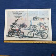 1968 Harley-davidson Double Page Full Color Print Ad Playboy Magazineandnbsp