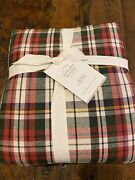 Nwt Pottery Barn Denver Plaid Duvet Full/queen Sold Out