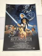 Frank Oz And Harrison Ford - Yoda And Han Solo Star Wars Rotj Signed 12x18 K9 Proof