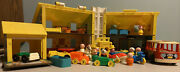 Little People 952 Play Family House Vtg Fisher Price Mini Bus Furniture Nursery