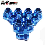 10x -8an Male To Weld-on Bung 0 Degree Hose End Fitting Adapter Flare Blue Emusa