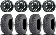 Raceline Pod Bdlk 14 Wheels Bk +38mm 28 Gripper T/r/k Tires Rzr Xp 1k / Pro Xp
