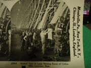 Stereoview Card Large Printing Room Of Cotton Mills Lawrence, Mass. Reprint 1978