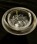Waterford Crystal Irish Treasures 11 Turnover Bowl 4th Edition Signed By Artist