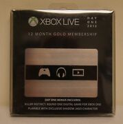 New Microsoft Xbox Live Subscription 12 Month Gold Membership Day One Edition