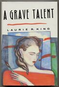 Laurie R King / A Grave Talent First Edition 1993