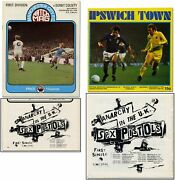 Two Football Magazines With Early Sex Pistols Advertisements / 1976