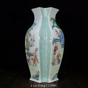 12collection China Old Antique Qing Dynasty Pastel Play Baby Pattern Vase
