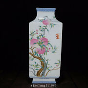 Rare China Old Antique Qing Dynasty Blue And White Pastel Peach Pattern Vase