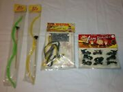 Vintage Dime Store Toy Lot Oldstock Big Chief Bow Army Vehicles Western Spur Set