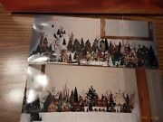Dept 56 Christmas Village Over 50 Buildings On 18 Feet Of Tables....