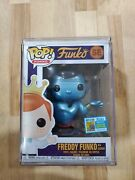 Sdcc Exclusive Metallic Genie Freddy Le 350 Pop Shipped In Hard Stack