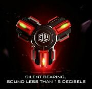 New Titanium Alloy Fidget Spinner Tri Hand Luminous Stainless Steal Spinning Toy