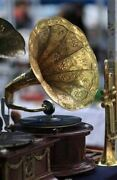 Collectible Victrola Old Quality Antique Home Decor Gramophone Phonograph Bg 06