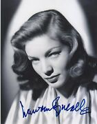 Lauren Bacall Signed Autographed 8x10 Hollywood Screen Legend - K9 Holo Coa