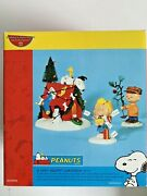 Dept 56 Peanuts Snoopy A Very Snoopy Christmas Lighted 3 Piece Set
