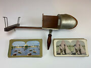 Antique Vintage Underwood 1901 Stereoscope 3d Photograph Viewer 50 Cards Total