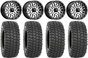 Msa Machined Brute 15 Atv Wheels 32 Xcr350 Tires Can-am Renegade Outlander