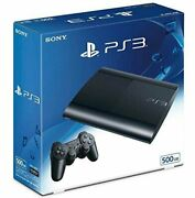 Used Sony Ps3 Playstation 3 500gb Console System Charcoal Black Cech4300c
